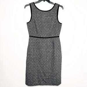 New J.Crew Tweed Chevron Sleeveless Suit Dress